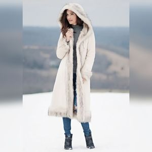 Donna Salyers Fabulous Faux Fox Fur Hooded Coat 2X
